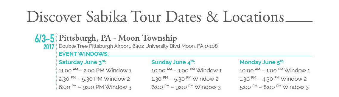 Discover Sabika Tour Dates and Locations - Pittsburgh, PA - Moon Township - Click here to register for Pittsburgh
