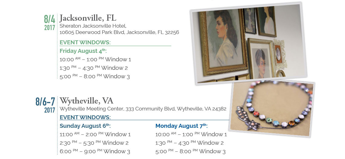 Sabika Tour Locations: Jacksonville Florida and Wytheville Virginia