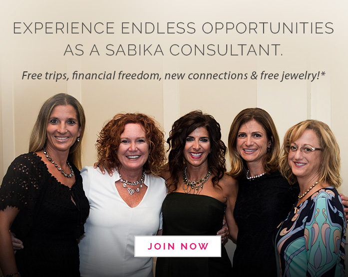 Experience endless opportunities as a Sabika Consultant. Free trips, financial freedom, new connections & free jewelry!* Click here to Join Now.