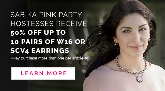 Sabika Pink Party Hostesses are eligible for 50% OFF UP TO 10 Pairs of W16 or SCV4 Earrings. (May purchase more than one per article #) Click here to Learn More.